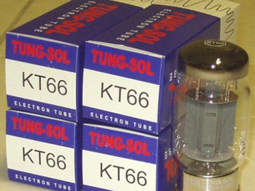Tung Sol KT66 Tubes, Matched quads, reissue, new