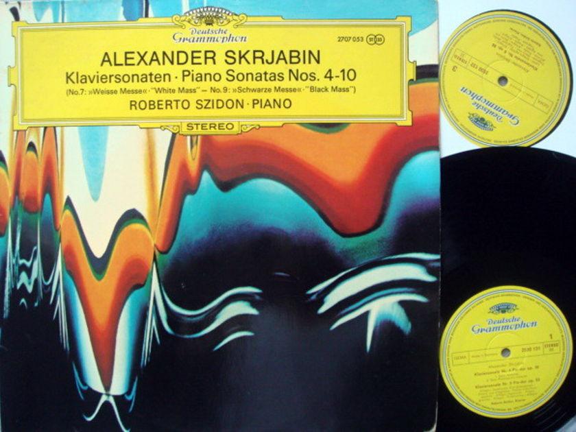 DG / ROBERTO SZIDON, - Scriabin Piano Sonatas No.4-10, NM, 2LP Set!