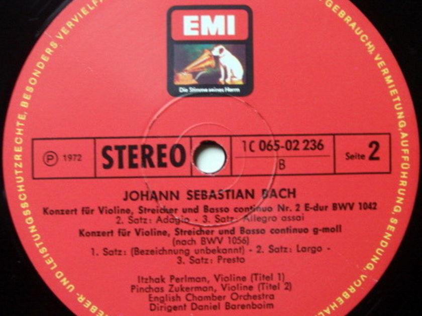 EMI HMV / PERLMAN-ZUKERMAN-BARENBOIM, - Bach Violin Concertos, NM!