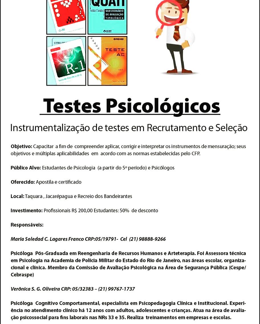 Instrumentalização de Testes Psicológicos em Recrutamento e Seleção