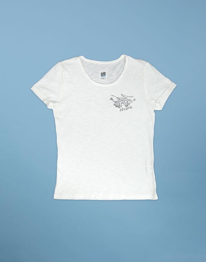"""Белая футболка """"Nope"""""""
