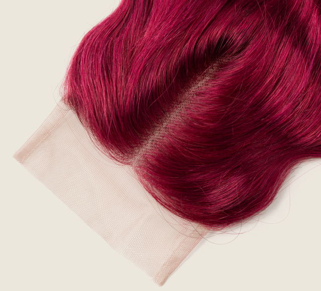 Body Wave Vibrant Burgundy Closures Mayvenn