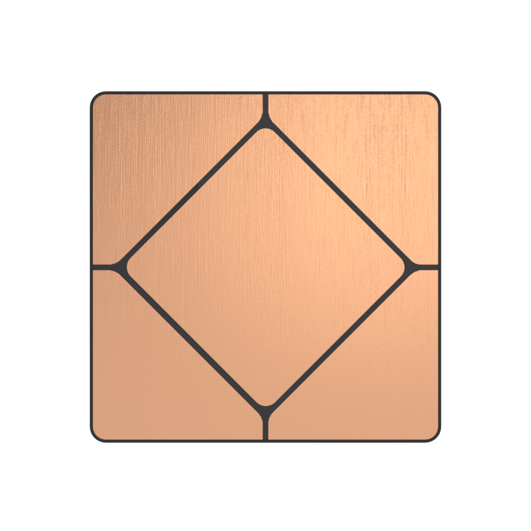 Faradite TAP-5 dry contact Brushed Copper Switch