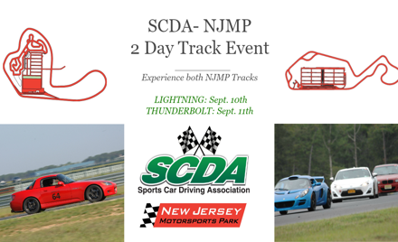 SCDA- NJMP-HPDE- 9/10 Lightning & 9/11 Thunderbolt