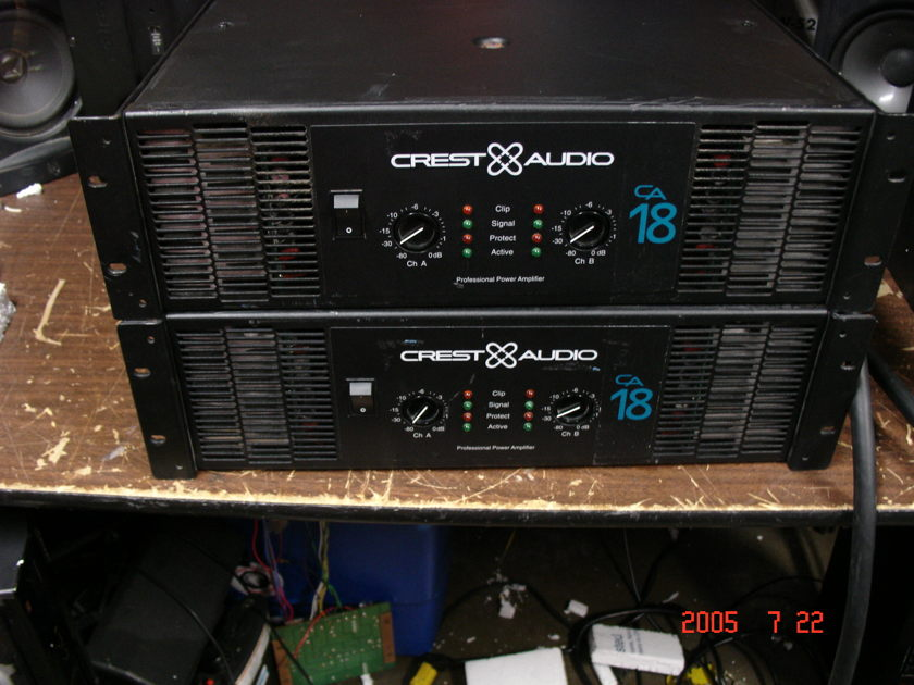 CREST AUDIO CA18 POWER AMPLIFIERS/ASIS