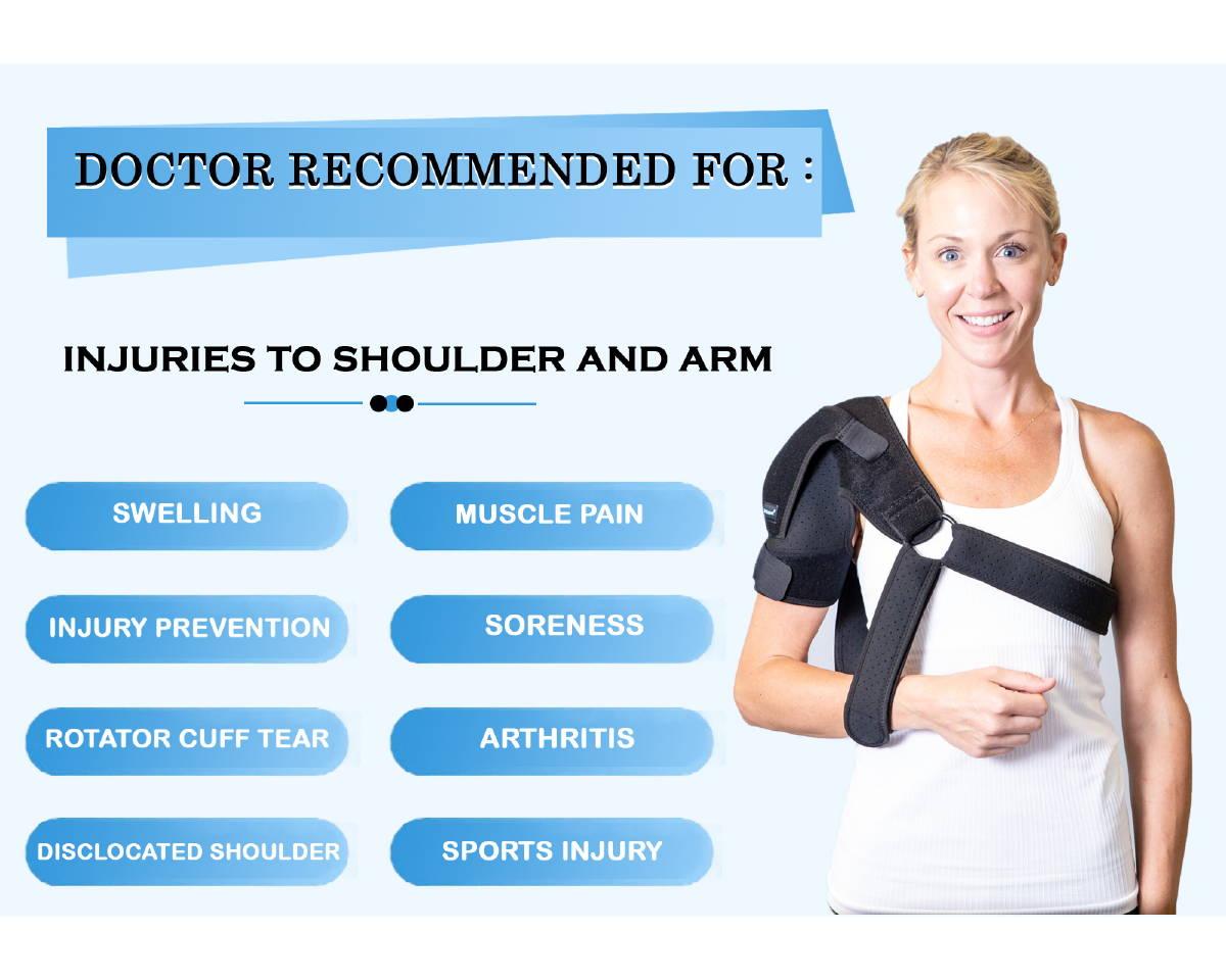 shoulder brace with sling for shoulder injuries