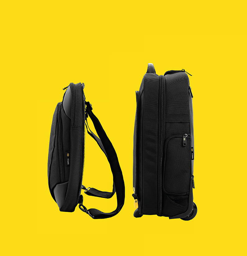 GATE8 Luggage Zip-Off Laptop Bag