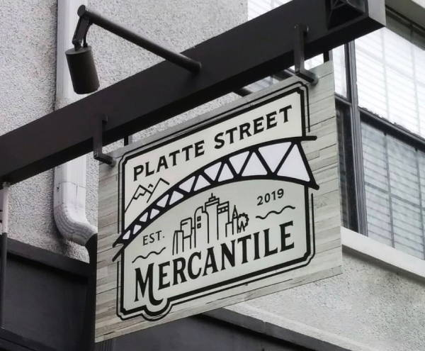 Signs & Banners - Platte Street Mercantile Sign