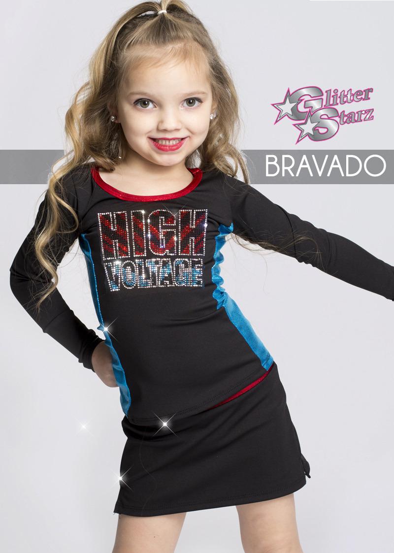 high voltage glitterstarz bravado mini uniform shop cheerleading dance