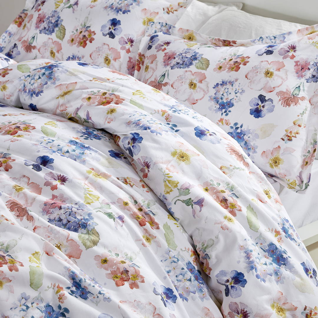 sleep zone bedding website store products collections cottonnest printed cotton duvet cover floral blossoms bedroom side view