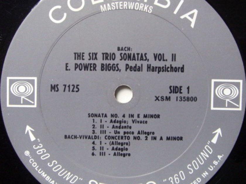 Columbia 2-EYE / E. POWER BIGGS,  - Bach Six Trio Sonatas No.4-6, NM!