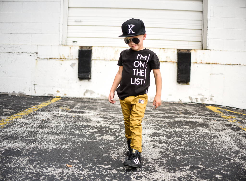 Brooklyn+Fifth Mustard Jogger Pants for Kids Toddler Joggers.
