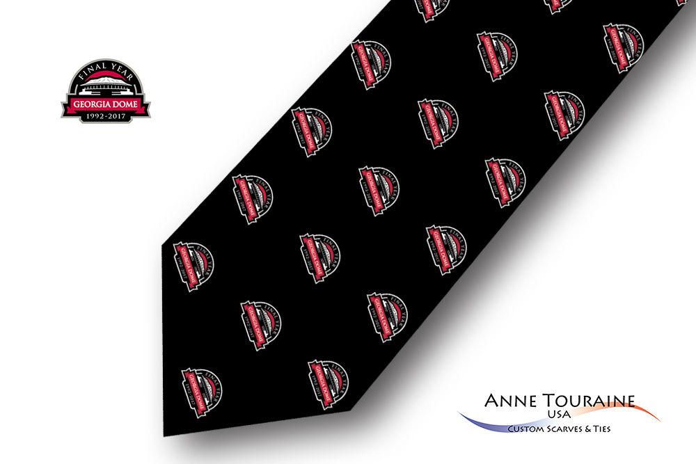 Repeated-logo-custom-ties-design-style-black
