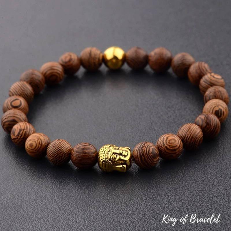 Bracelet Bouddhiste en Perles de Bois - King of Bracelet