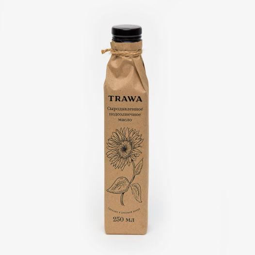Сыродавленное подсолнечное масло TRAWA