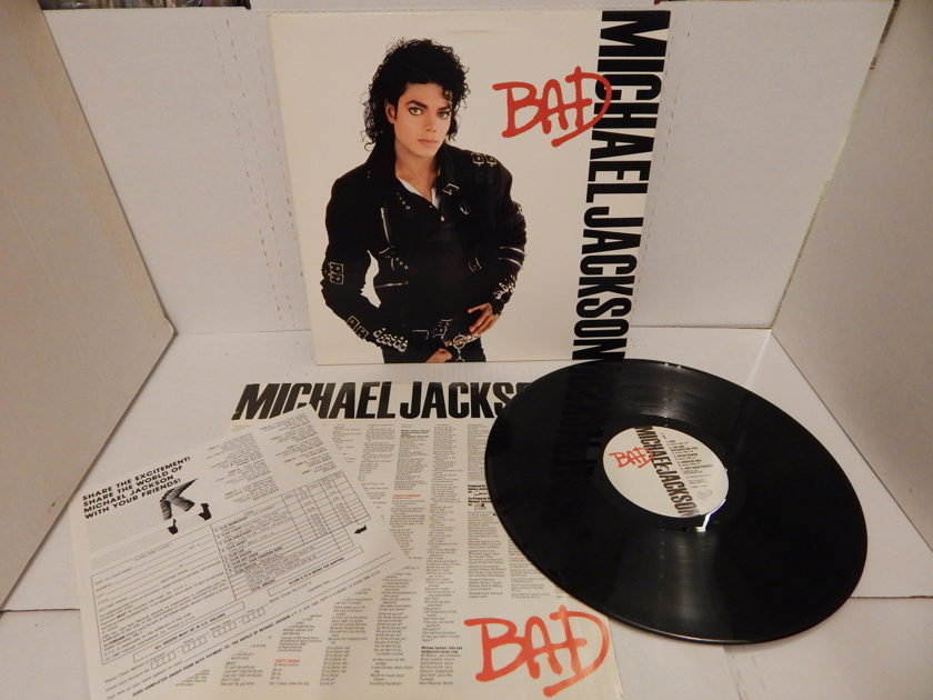 Michael Jackson BAD - 1987 OE 40600 Gatefold   & Bad Sleeve & Insert LP Mint