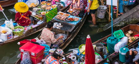 The Famous Floating Market and Farm Visits