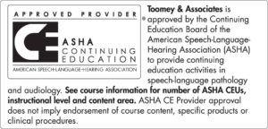 American Speech and Hearing Association