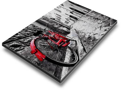 Direct print on brushed aluminum