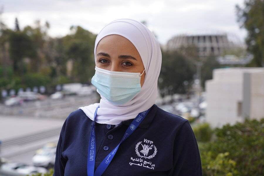 Nour Abdallah, a field monitor for WFP in Syria