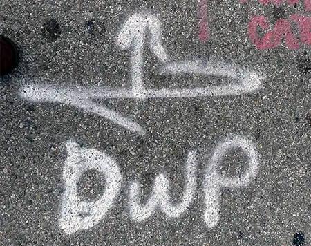graffiti on asphalt