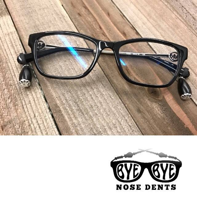 Bye-Bye Nose Dents Eyeglass Jewelry Prevents Eyeglass Pain, Nose Dents, And Slipping