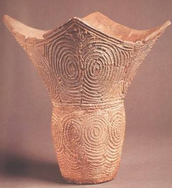 Jomon period clay vase from 6000BC