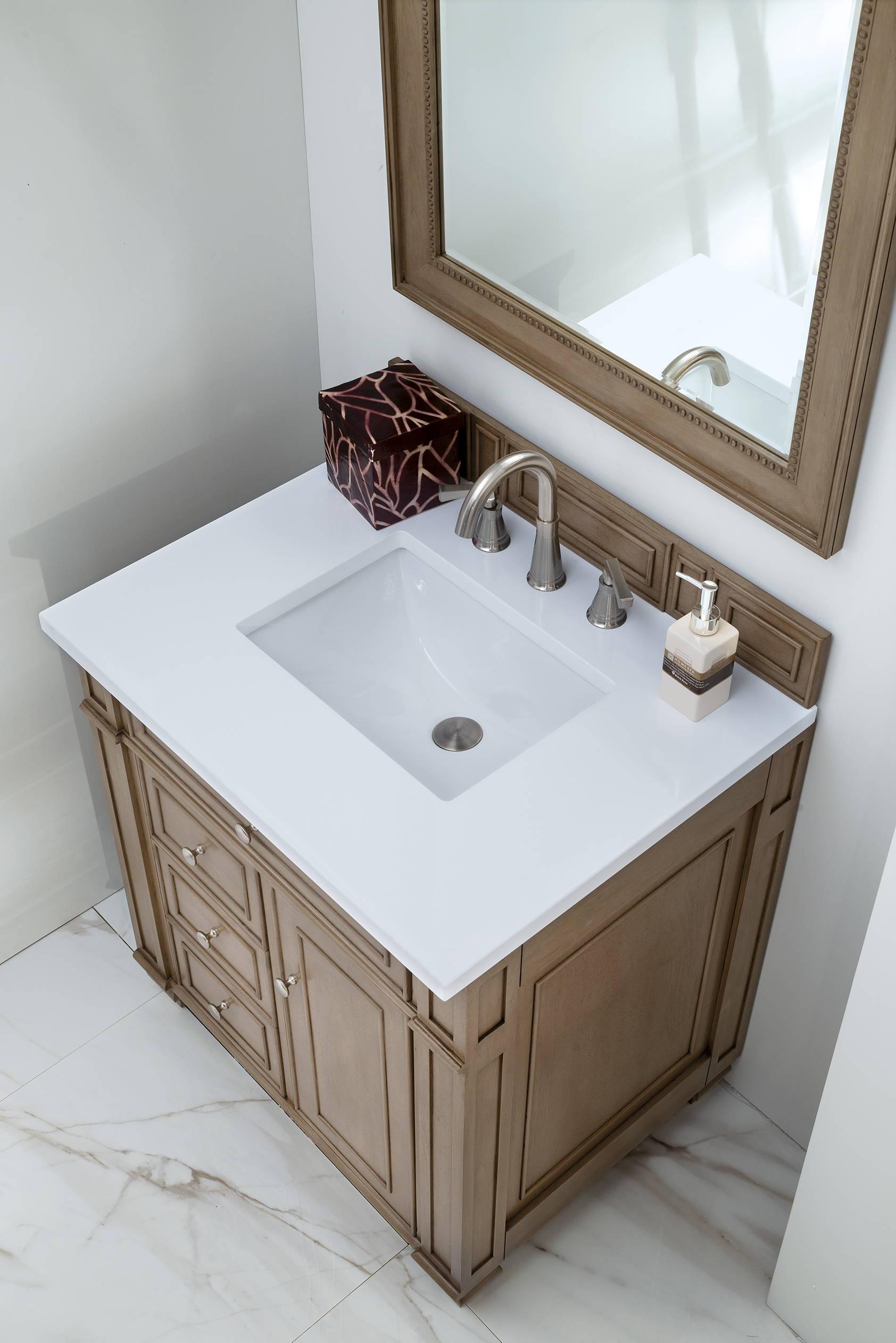 Bristol 30 Single Vanity White Washed Walnut
