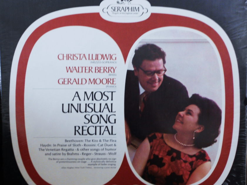 FACTORY SEALED ~ CHRISTA LUDWIG ~WALTER BERRY~  - A MOST UNUSUAL SONG RECITAL~GERALD MOORE (PIANO) ~  SERAPHIM S 60087 (1969)
