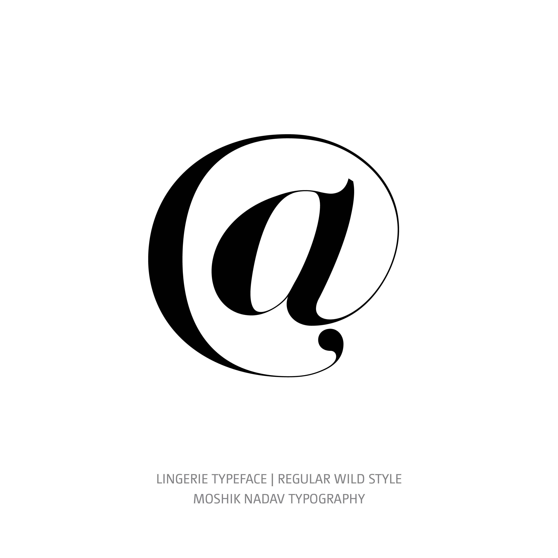 Lingerie Typeface Regular Wild @