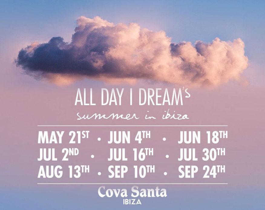 Party calendar All Day I dream 2020 Ibiza party
