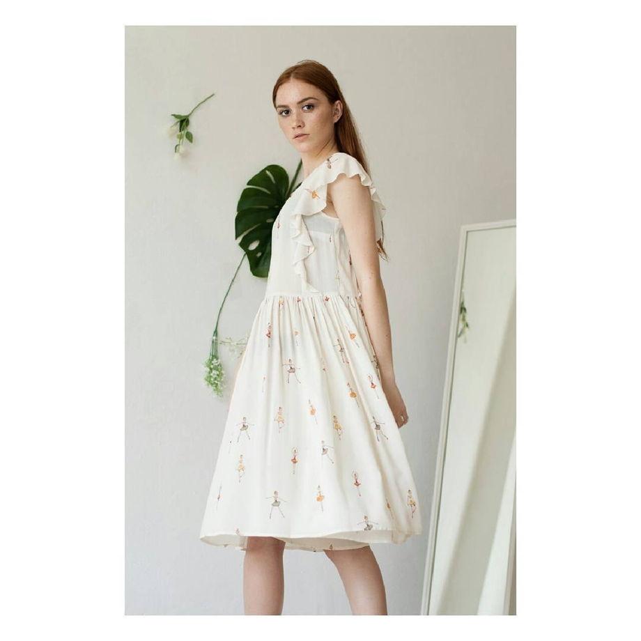 Платье с принтом «балерины»