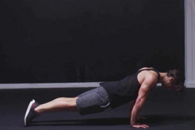 Squeeze your glutes and tighten your core.