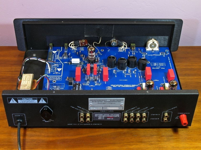 Counterpoint SA-1000 Black TUBE Stereo Preamp with Phono! Upscale Audio tubes!