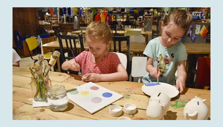 oskarshausen kindergeburstag kreativwerkstatt malen
