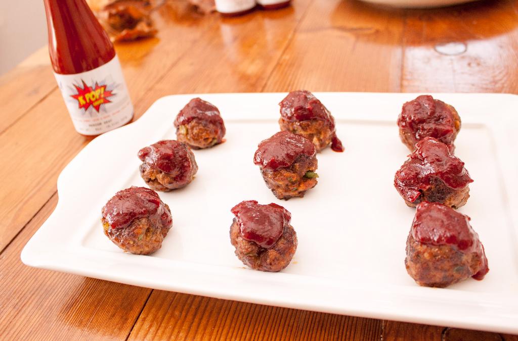 KPOP sauce glazed meatballs recipe