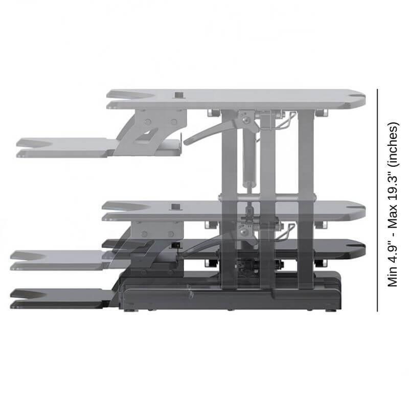adjustable desk, height adjustable desk, computer stand