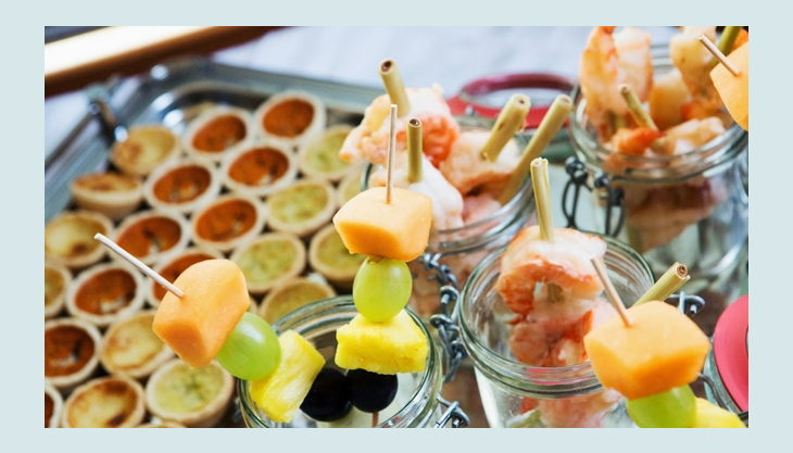 salonschiff oggesen buffet fingerfood