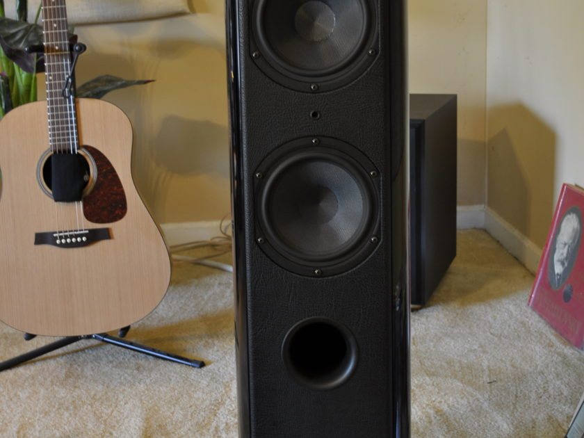 Sonus Faber Grand Piano Home Gloss Black w/stands Excellent!