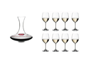 8 Riedel Vinum Chardonnay Glasses + Riedel Ultra Decanter