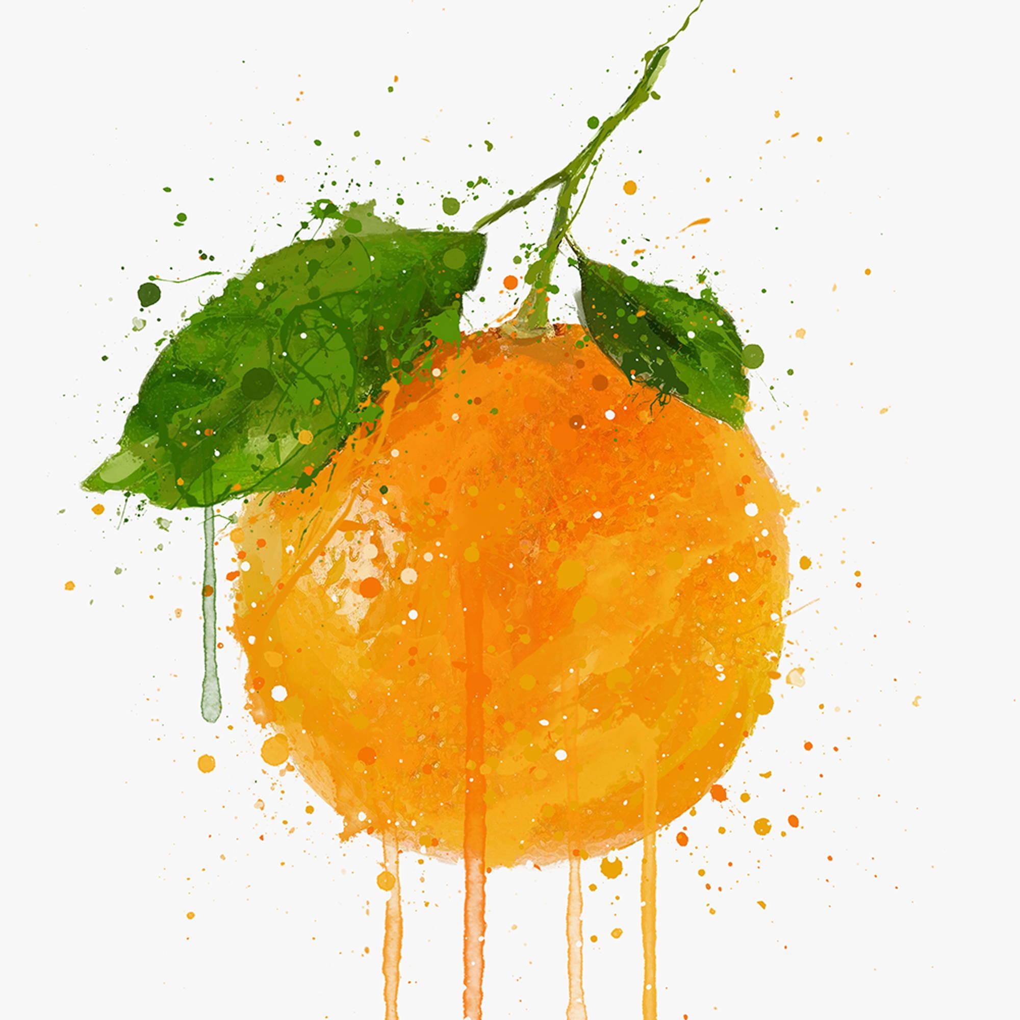 A Whole Orange Wall Art print Wall Art Print