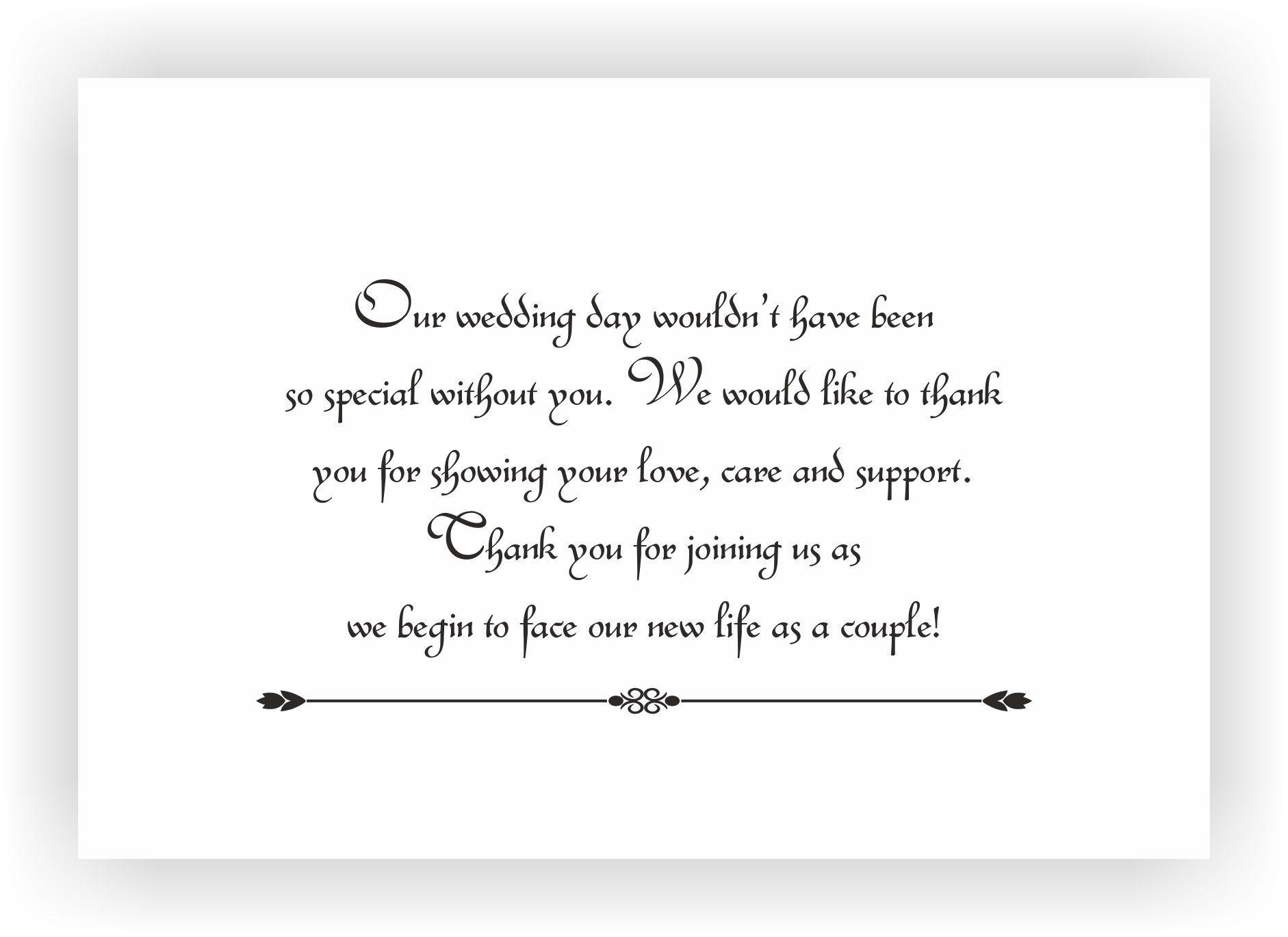 Wedding Gift Message Note