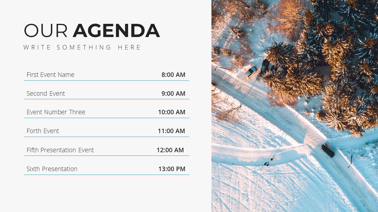 Minimal X Project Proposal Presentation Template Agenda