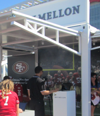 BNY has serious marketing penetration in Silicon Valley, including receptacles by expensive seats at Levi's Stadium.