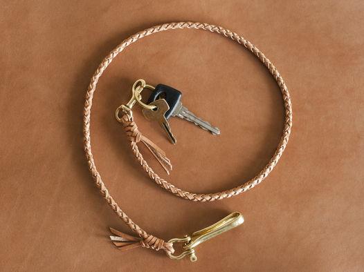 Длинная кожаная цепь для ключей \ кошелька.