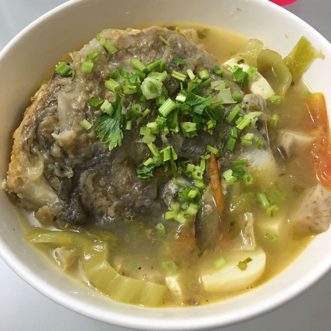 Jun 3rd, 20 - fish head with pickled mustard soup.