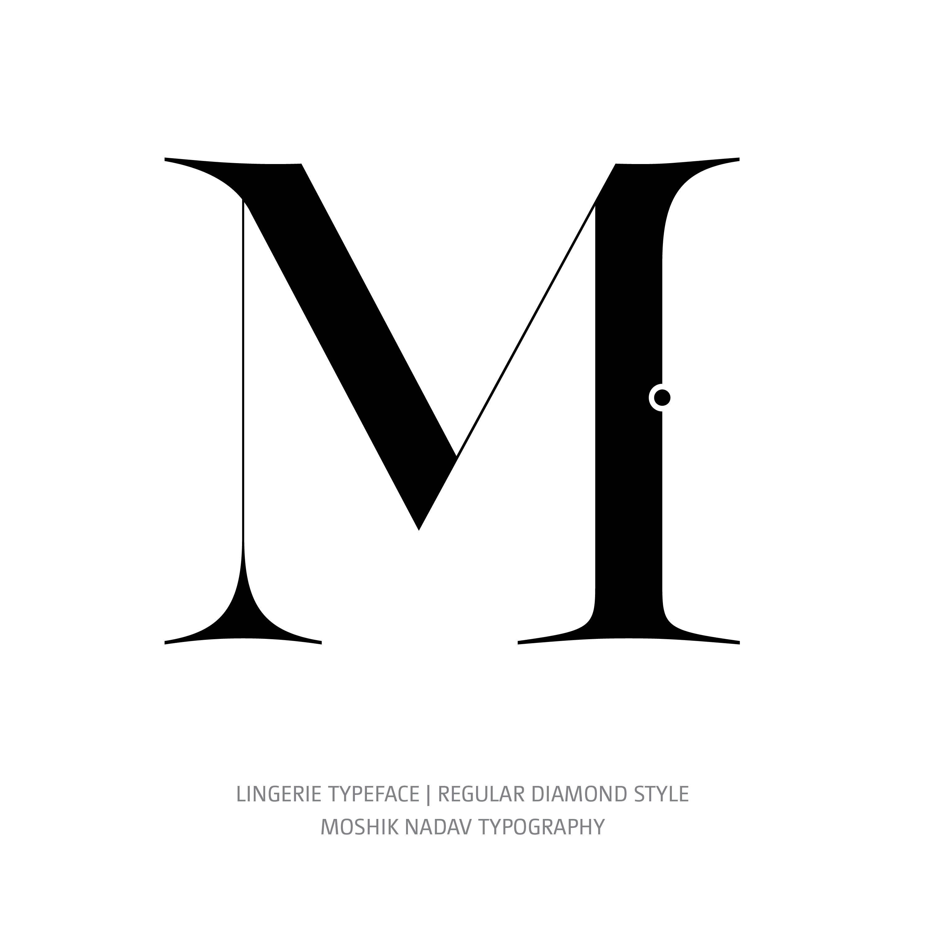 Lingerie Typeface Regular Diamond M