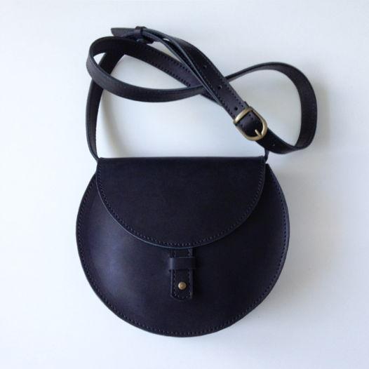 Кожаная сумка Round Black