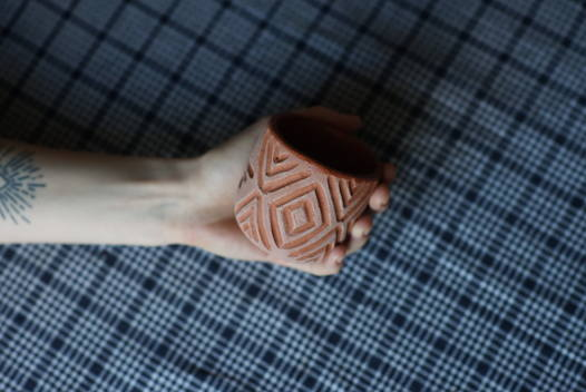 Керамический стакан ручной работы african