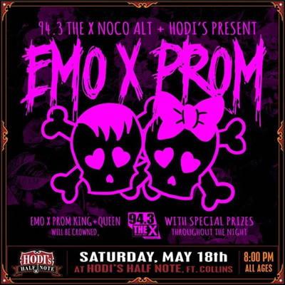 94.3 The X and Hodi's Present: EMO X PROM at Hodi's Half Note
